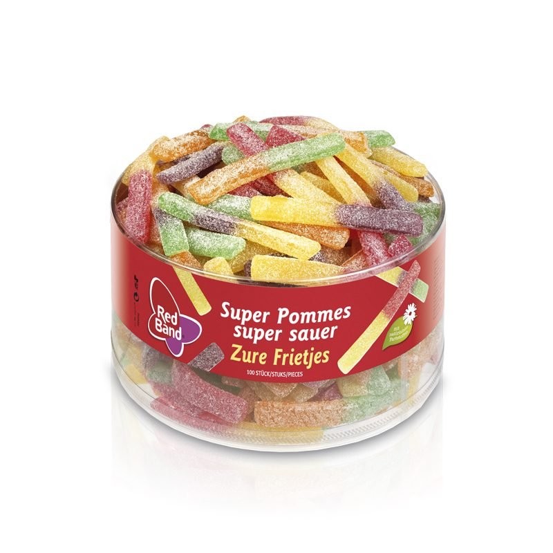 Red Band Pommes super sauer Klarsichtdose 100 Stk.
