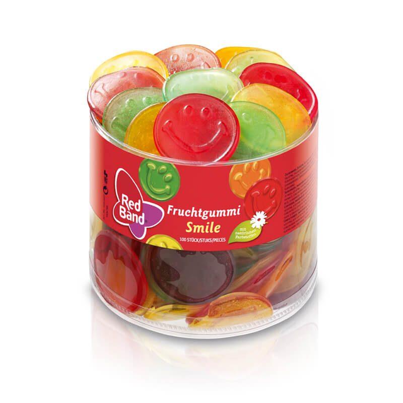 Red Band Fruchtgummi Smile Klarsichtdose 100 Stk.