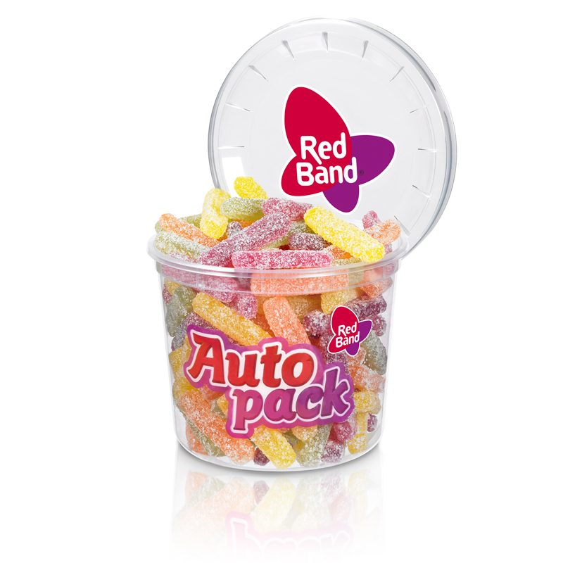 Red Band Gummi Stäbchen super sauer Autopack 185g