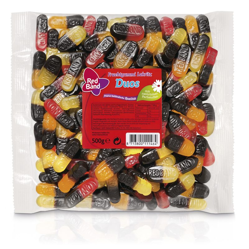 Red Band Fruchtgummi Lakritz Duos Family Beutel 500g