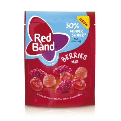 "Red Band ""30% weniger Zucker"" Berries Mix 210g"