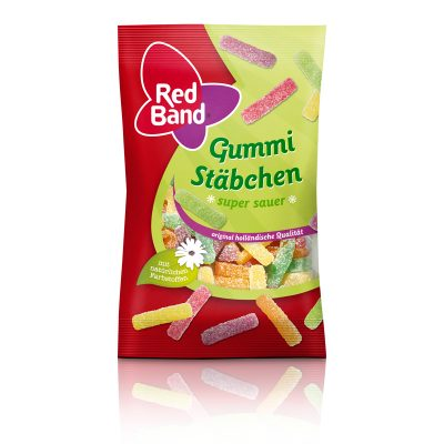 Red Band Gummi Stäbchen super sauer Snackpack 100g