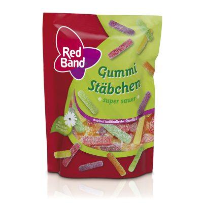 Red Band Gummi Stäbchen super sauer Premium Stehbeutel 200g