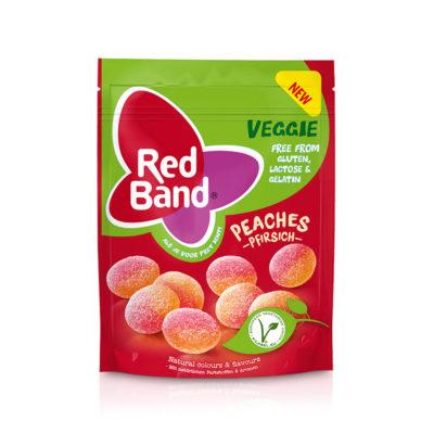 Red Band Veggie Pfirsich Premium Stehbeutel 150g