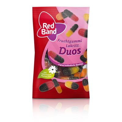 Red Band Fruchtgummi Lakritz Duos Snackpack 100g