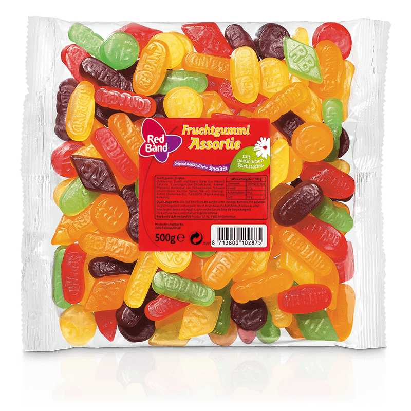 Red Band Fruchtgummi Assortie Family Beutel 500g